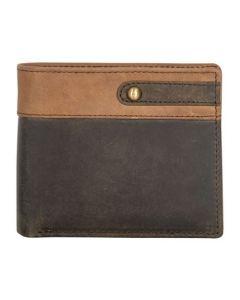 ASPENLEATHER Brown Genuine Leather RFID Blocker Wallet For Men