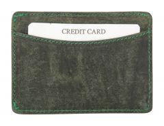 ASPENLEATHER Prive Green Genuine Leather Credit Card Holder RFID Blocker For Men