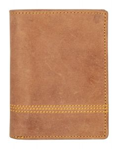 ASPENLEATHER Prive Tan Genuine Leather RFID Blocker Wallet For Men