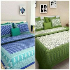 VINODTRADERS New Trendy Stylish Cotton 100 X 90 Double Bedsheets ( Pack Of 2 )