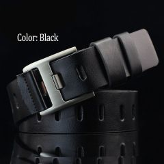 Stylish Casual Artificial Leather Belt for Men's (Black)