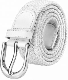 Women Formal, Casual Canvas Belt (White) (Pack Of 1)