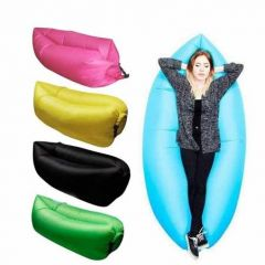 Inflatable Polyester Fabric Air Lazy Sofa For Outdoor Camping And Beach Lightweight & Waterproof