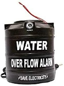 Plastic Water Over Flow Tank Alarm with Voice Sound/Water Sensitive Overflow Alarm (Black)