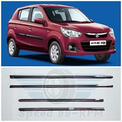 Speed 99~RPM Chrome Stainless Steel Lower Window Garnish Compatible With Alto 800/K10 2014+20 Complete Set Of 4 Pcs Exterior Accessories