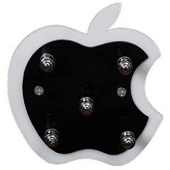 Vaishvi Apple Shaped Wall Mounted Key Holder | Acrylic Key Rack Hooks and Decorative Multipurpose Hanging Hook Rack