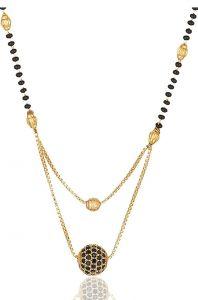 Haute Fashion Zircon Stone Designs Small Pendant Mangalsutra for Women (Pack of 1)