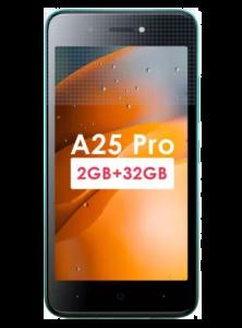 Itel A25 Pro Smartphone (Gradation Green, 2GB RAM, 32 GB Storage)    Pack of 1