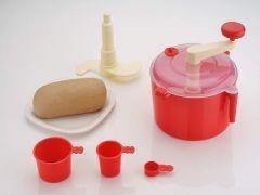 SCILLA Automatic Non Electric 3 in 1 Atta Kneader | Dough Maker Machine |Atta Maker for Kitchen (Red)
