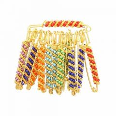 CATALYST Gold Plated Saree Ethnic Safety Pins For Women (Multi-Color) (Pack of 27)
