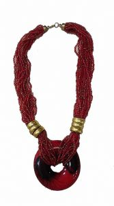 CATALYST Trendy Fashionable Necklace With Earring Set Navratri Jewellery Set For Womens and Girls (Maroon)