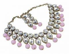 CATALYST Fashionable and Stylish Pearl Choker Necklace Set With Earrings For Women & Girls