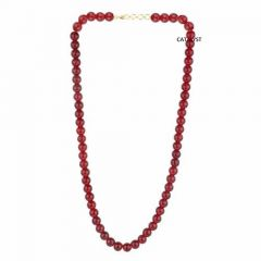 CATALYST Designer Pearl Necklace For Women & Girls (Maroon) (Pack of 1)
