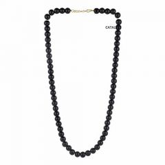 CATALYST Stylish and Designer Pearl Necklace For Women & Girls (Black)