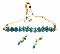 CATALYST Stylish and Designer Choker Necklace With Earrings for Women & Girls (Pack of 1)