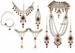 CATALYST Stylish Indian Traditional Gold Plated & Kundan Bridal Jewellery Set For Women