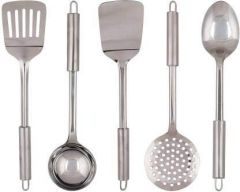 Apro High Quality Stainless Steels Serving Kitchen Tool Set (Silver) (Pack of 5)