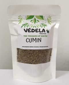 VEDELA Naturals- Pure & Hygienic Whole Cumin Seeds Jeera No Added Color (100 G) (Pack of 1)