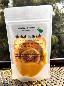 VEDELA Naturals - Herbal Bath Salt Clear Skin Refreshing Essential Lemon & Tea Tree Oil For Reduce Acne leaving With Smooth (200 G) (Pack of 1)
