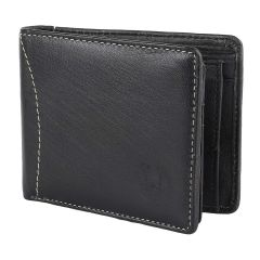Apro High-Quality Mens Genuine Leather Wallet (Black) (Pack of 1)
