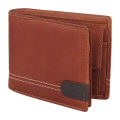 Apro High-Quality Mens Genuine Leather Wallet (Brown) (Pack of 1)
