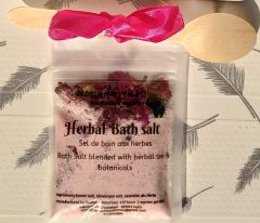 VEDELA Naturals- Bath Salt Blended With Herbal Tea And Botanicals, Hand Made Product No Machinery Used (Jasmine) (80*3=240 G) (Pack of 3)