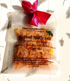 VEDELA Naturals-Herbal Bath Salt Blended With Herbal Tea And Botanicals Hand Made Product-(Citronelle) (80 G) (Pack of 1)