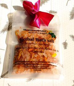 VEDELA Naturals-Herbal Bath Salt Blended With Herbal Tea And Botanicals Hand Made Product-(Lemon) (80 G) (Pack of 1)
