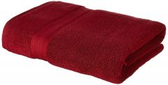 Apro 100% Natural Cotton Bath Towel, Size: 140x70 cm (Red) ( Pack of 2)
