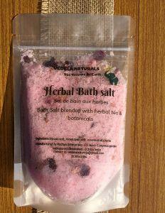 VEDELA Naturals -Bath Salt Herbal Bathtub Tea Essential oil Rose & Rosemary Improve Circulation (250 g) (Pack of 1)