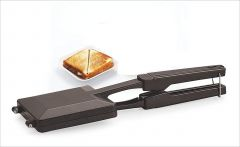 Skygold 2 layered German Non-Stick Grill Gas Sandwich Toaster-Sandwich Toaster (Black) (Pack of 1)