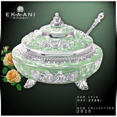 Bagrecha Creations Green  Enamel Sugarpot | Best Gift for Diwali