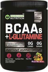Iso scoop nutrition Bacc Glutamain Mix Frut Protein Powder Mixed Fruit flavored 0.35 KG BCAA  (350 g, Mixed Fruit)