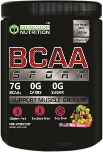 Iso scoop nutrition Bacc Sport Protein Powder Mixed Fruit flavored 0.35 KG BCAA  (350 g, Mixed Fruit)