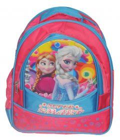 BAGO Super Smart Frozen Printed School Bag For Girl's & Kid's (Pink) (Pack of 1)