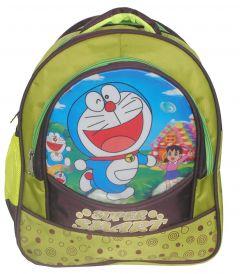 BAGO Super Smart Doraemon School Bag For Boy's & Kid's (Light Green) (Pack of 1)