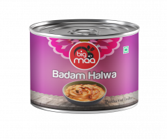 Big Maa Ready To Eat Indian Sweets Badam/Almond Halwa Good Taste (150 G) (Pack of 1)