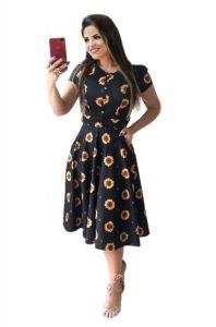 Bagrecha Creations Floral Printed Design Dress   Women's Knee Length Dress   Western Wear Long Top For Girl's & Women's