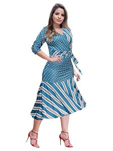 Bagrecha Creations Stylish Printed Midi Dress For Women's| Ladies Printed Midi Dress | Western Wear Dress