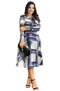 Bagrecha Creations Stylish Multi-Color Full Sleeves Printed Design Dress | Knee Length Dress | Western Wear Dress For Girl's & Women's