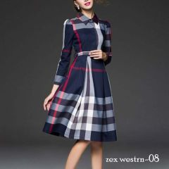 Bagrecha Creations Western Designer One Piece Poly Rayon Digital Printed Dress for Women's & Girls