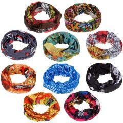 KGN Bandana Headwear Magic Scarf For Men And Women (Pack Of 4)