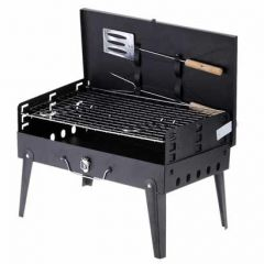 Barbecue Grillz Charcoal With 7 Skewers With Wooden Handle 1 Iron Grill 1 Packet Of Charcoal
