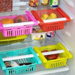 Space Saver Adjustable Fridge Under Shelf Storage Basket (Pack of 4)