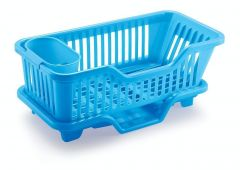 3 in 1 Large Durable Plastic Kitchen Sink Dish Rack Drainer Drying Rack Washing Basket with Tray for Kitchen, Dish Rack