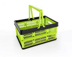 Folding Shopping Basket, Food Snacks Picnic Portable Folding Storage Basket (Pack of 1)