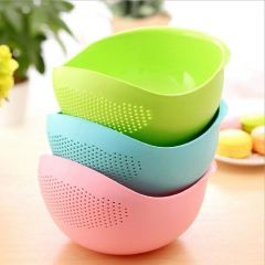 Rice Bowl Washing Bowl and Strainer for Rice, Fruits, Vegetable, Noodles, Pasta for Storing and Straining (Pack of 1)