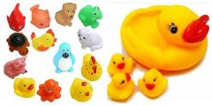 Combo Of Bath Toys With Duck Family For Kids, Boys & Girls (Pack Of 8Pcs)