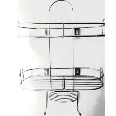 Vaishvi 5 in1 Stainless Steel Big Size Multipurpose Bathroom Shelf | Kitchen Shelf Holder Accessories for Home