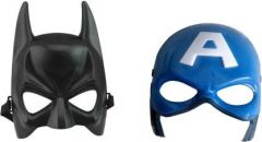 PTCMART Batman And Captain America Face Mask For kids Party Mask(Multicolor, Pack of 2)